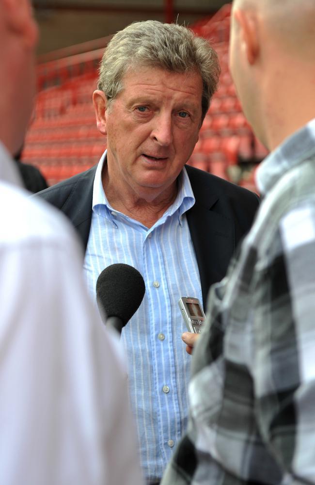 Roy Hodgson at Bristol City's Ashton Gate in 2011.