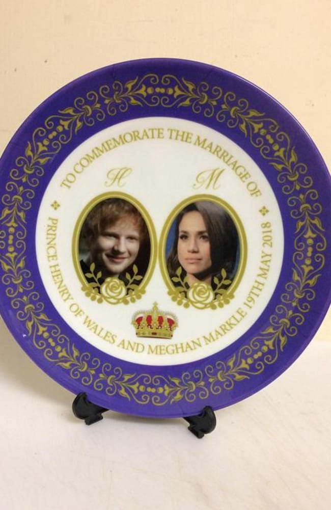 Can you spot what's wrong with this royal plate? Picture: Etsy