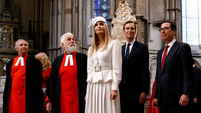 Ivanka Trump and Jared Kushner were front and centre during the family's state visit to the UK. Picture: Henry Nicholls/WPA Pool/Getty Images
