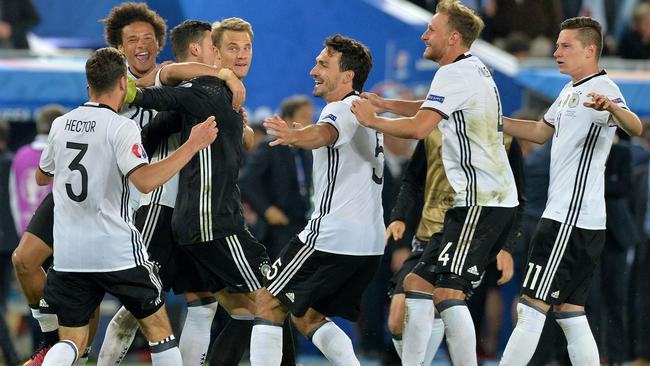 Germany players celebrate.