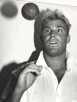 Shane Warne after a record breaking bowling spell in 1992.