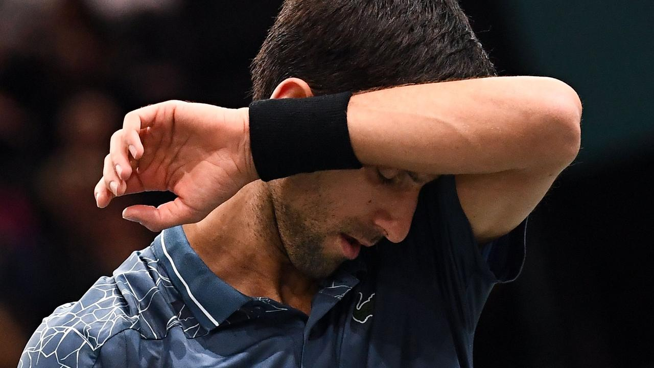 Novak Djokovic was struggling physically during the final.