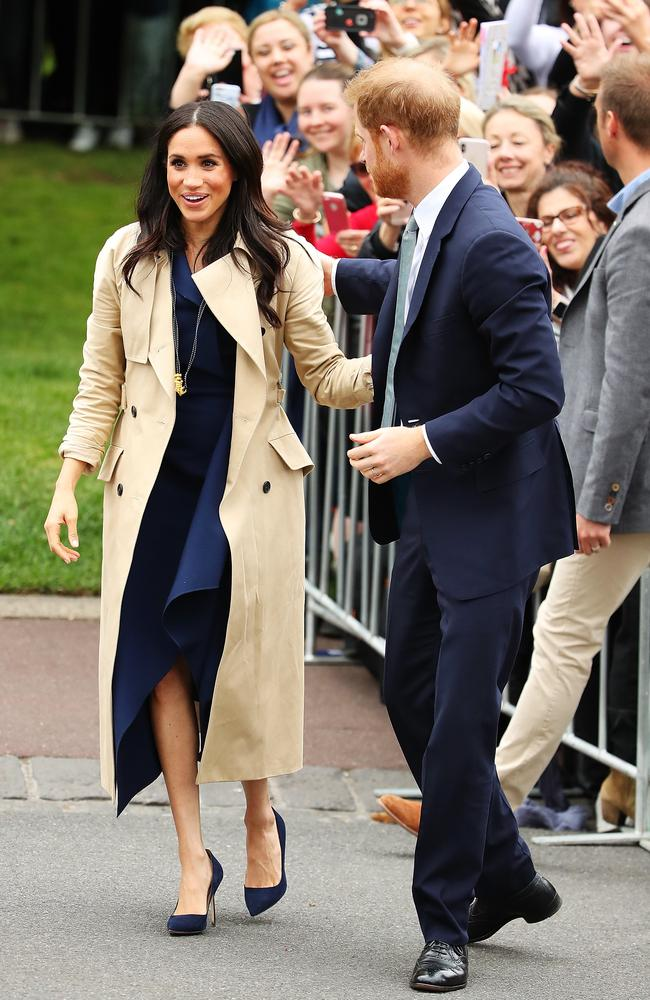 Thousands turned out to say hello and give gifts to Meghan and Harry.