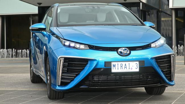 The Toyota Mirai is already on sale overseas, priced about $70,000. Picture: Supplied.