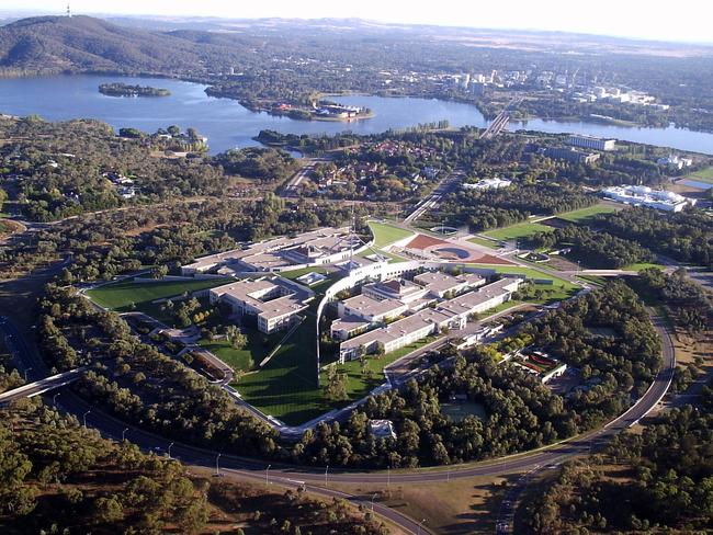 Canberra from the air.