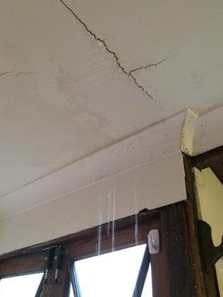 Leaking roof. Picture: Facebook