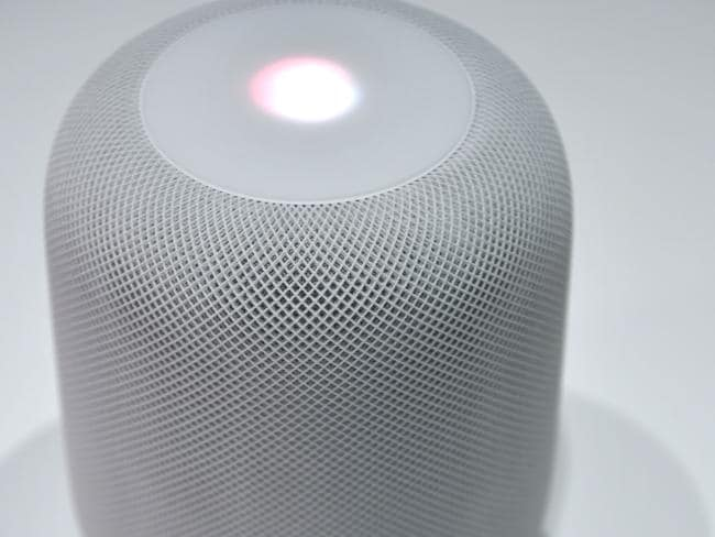 Apple is behind Google and Amazon in the home smart speaker space. Picture: AFP/Josh Edelson