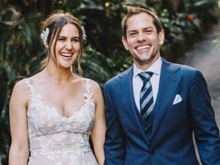Casey and her husband on their wedding day. Photo: Supplied