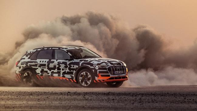 The Audi E-Tron can handle heading off the bitumen. Picture: Supplied.