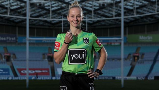 Belinda says her appointment is every referee's dream. Image: Toby Zerna