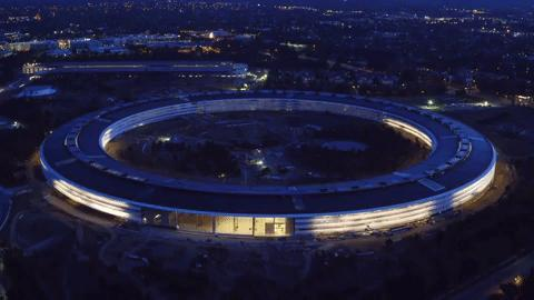 TECH: Drone Captures Stunning Footage of Apple Park at Sunset May 2017