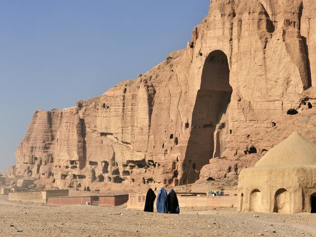 The 'city of screams' can be found in Bamyan (pictured) in Afghanistan.