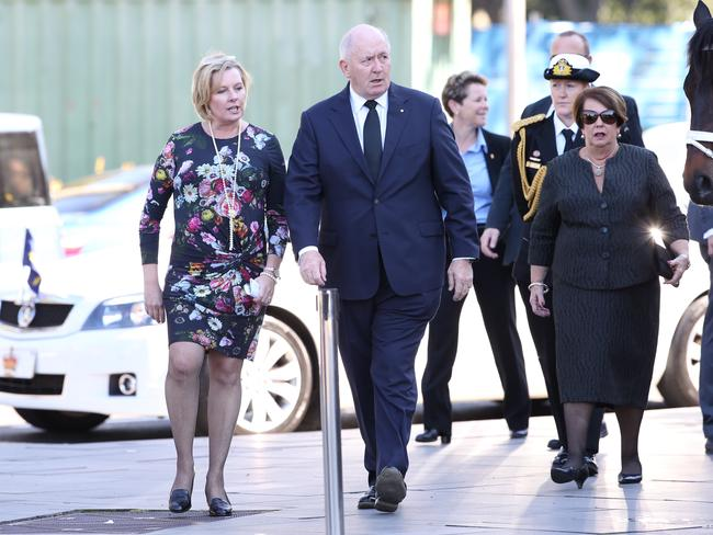 Governor-General Peter Cosgrove arrives at St Mary's Cathedral. Picture: Stephen Cooper