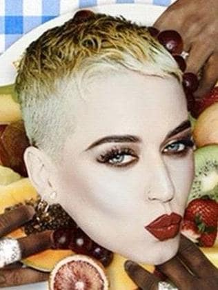 Katy Perry's brand new haircut.