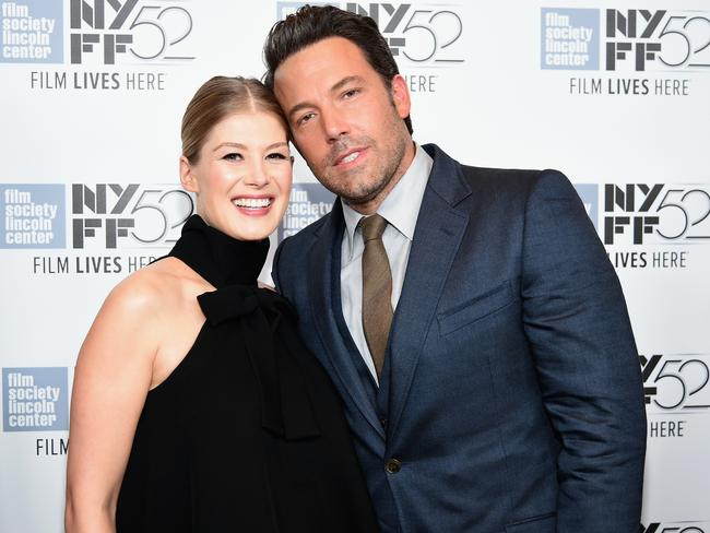 Thriller ... actors Rosamund Pike and Ben Affleck attend the Opening Night  of