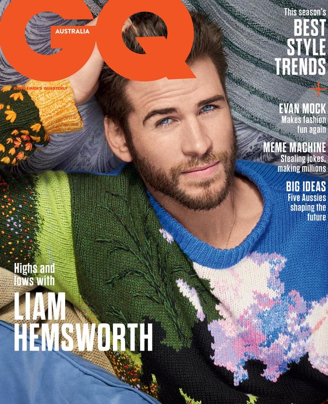 Liam Hemsworth is on the cover of GQ Magazine. Picture: Carter Smith. Stylist: Andrew T Vottero.
