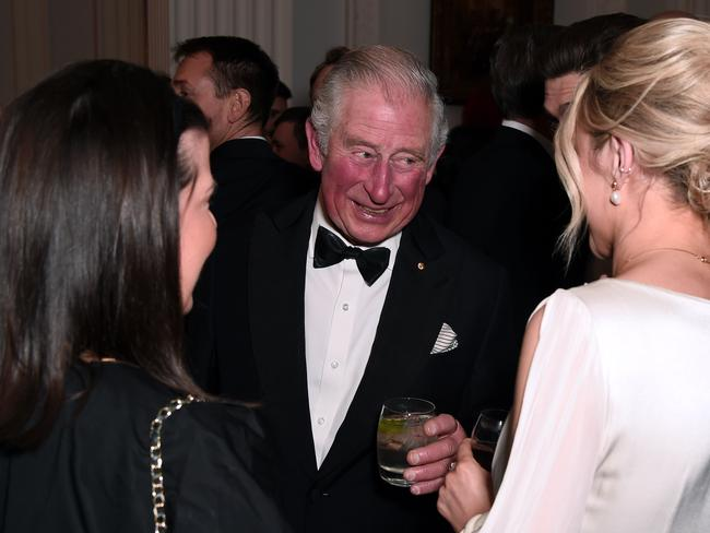 Prince Charles, Prince of Wales attends a dinner in aid of the Australian bushfire relief and recovery effort at Mansion House. Picture: Getty