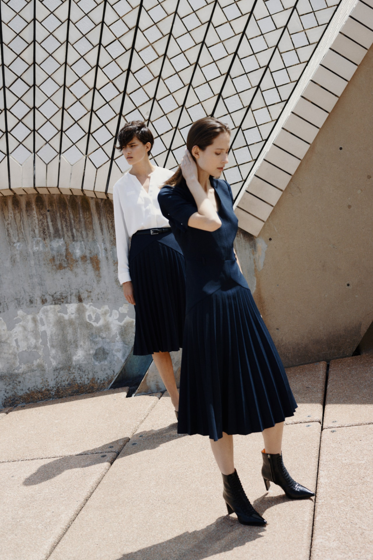 The Opera House's 45th anniversary staff uniforms designed by Dion Lee. Image credit: Supplied