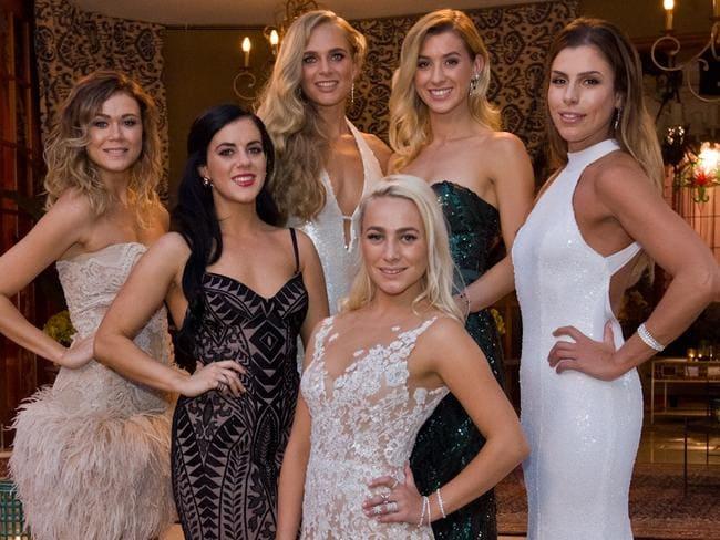 Victorian contestants Sasha, Georgia, Tolyna, Laura, Alex and Aimee.