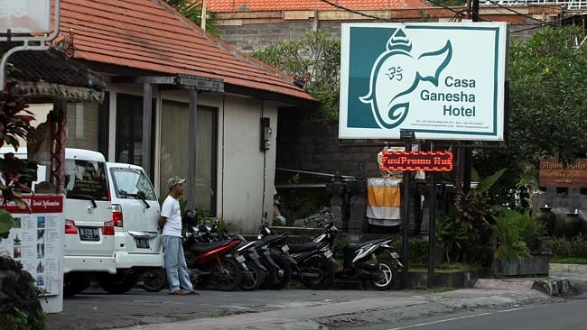 Casa Ganesha Hotel in Ubud where Noelene Gaye Bischoff and her daughter Yvana Jean Yuri Bischoff stayed on arrival in Bali.