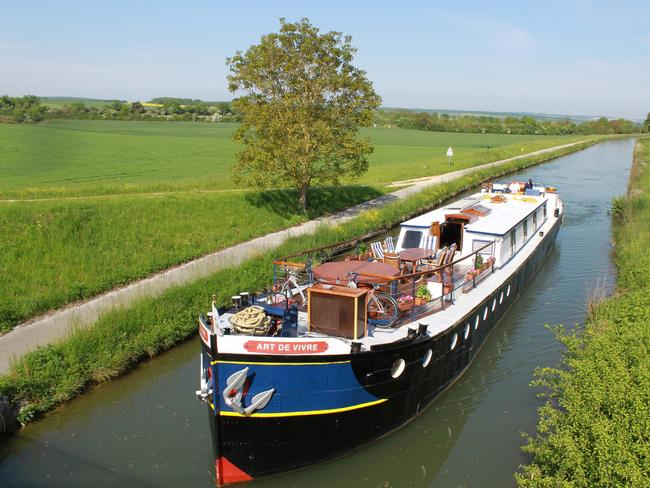 Barges access France's smaller waterways.