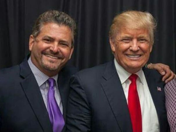 Donald Trump and David Wohl.