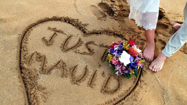 Plenty of couples hitched in Hawaii boast 'Just Maui'd' on social media.