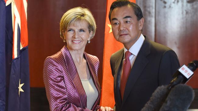 Going instead ... Julie Bishop will represent Australia at the UN climate change summit in New York next week. Picture: AFP