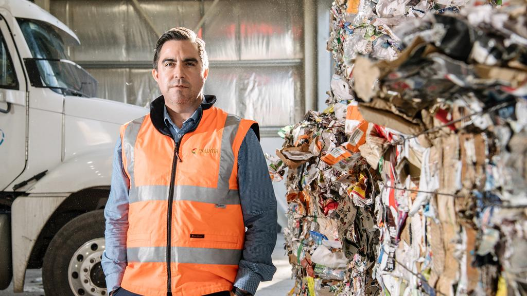 NAWMA chief executive Adam Faulkner at its northern waste transfer facility.