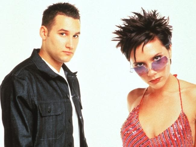 Duet ... Dane Bowers and Victoria Beckham had a hit with the song Out of Your Mind.