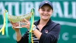Ash Barty has taken out No. 1 at the final of the Nature Valley Classic in Birmingham. Image: Getty.