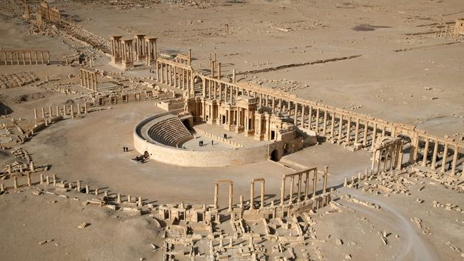 Counting the cost ... The ancient city of Palmyra, dubbed the birthplace of civilisation, has been overrun by IS and is at risk of being smashed to pieces.