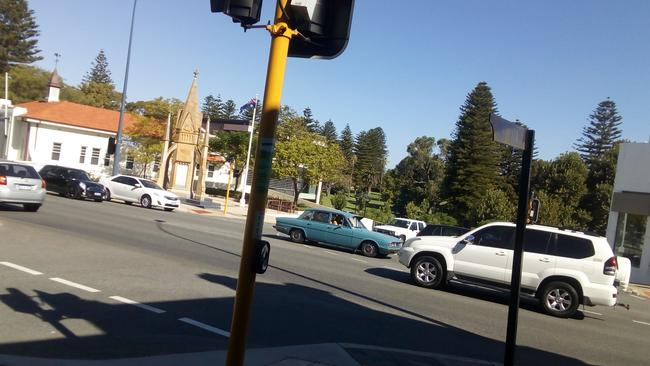 Bay View Terrace and the corner of the Stirling Highway at Claremont, around where the serial killer struck. Picture: Candace Sutton