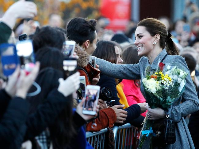 Kate made the comments while attending a memorial for victims of a chopper accident in Leicester. Picture: Getty Images