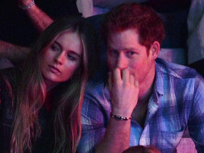 Cressida Bonas was the last woman to publicly date Prince Harry before Meghan. Here they are at a charity event at Wembley Arena in 2014. Picture: Karwai Tang/WireImage