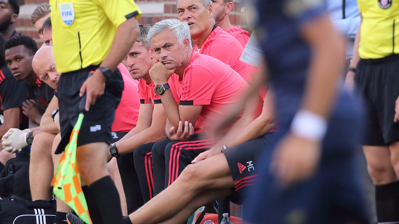 Jose Mourinho is in his third season at Manchester United.