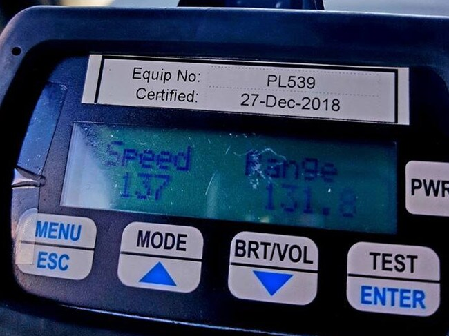 The woman was caught driving 57km/h over the speed limit. Picture: Moreland Police Service Area