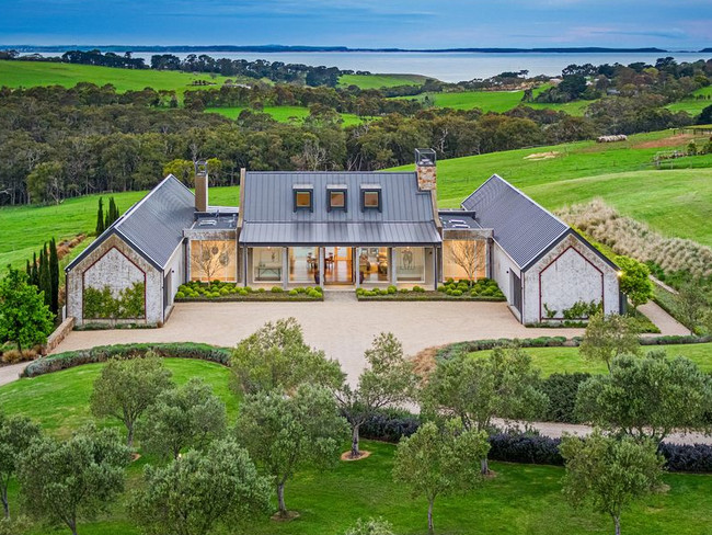 A country estate with all the bells and whistles, this Flinders estate is an uber modern farm house. Picture: Supplied