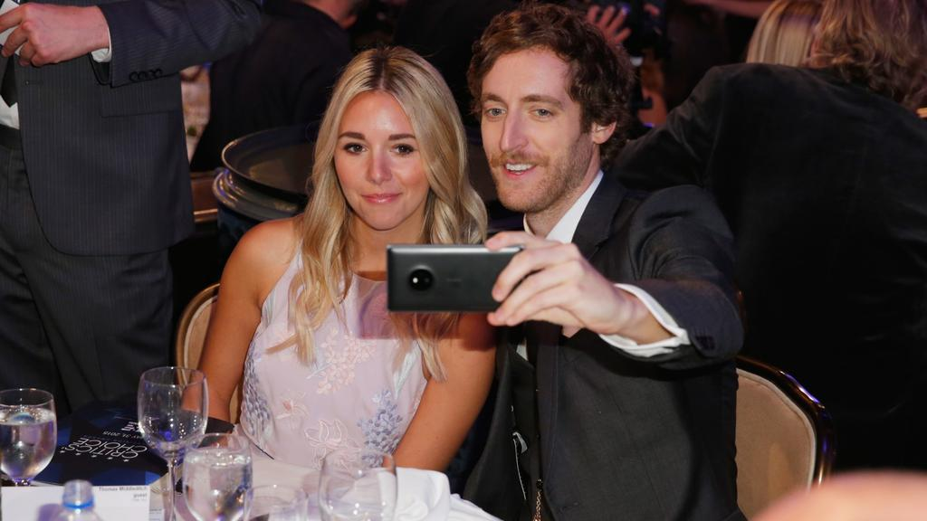 "Thomas Middleditch: ""I don't give a f**k, but my wife is more private."" Picture: Joe Scarnici/Getty Images for FIJI Water"