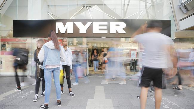 Myer and David Jones are increasing sales of own-brand fashion and homewares. Picture: Mathew Farrell