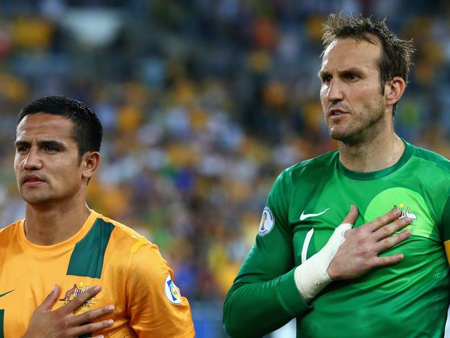 Tim Cahill and Mark Schwarzer