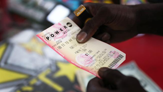Wednesday's $US750 million Powerball draw will be one of the biggest in US history. Picture: Joe Raedle/Getty Images/AFP