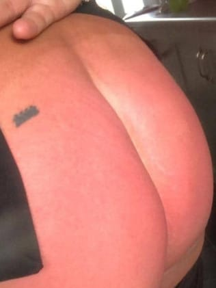 The 'mortified' mum sent the racy snap to a tradie she was messaging asking for a quote. Picture: Kennedy News