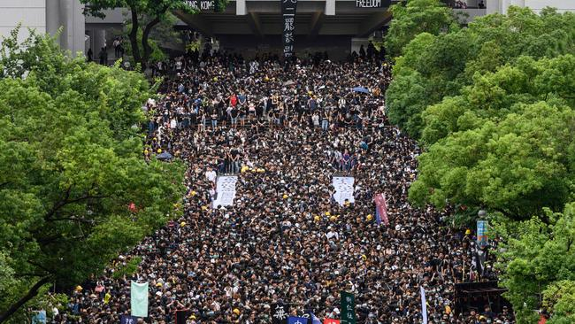 Students in Hong Kong held a major protest this week. Picture: Philip Fong / AFP