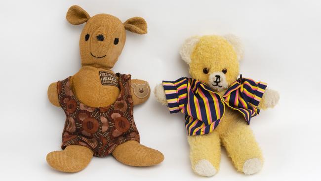 Soft touch: Coochie (left) and Cordial (right) are the stars of night-time stories.