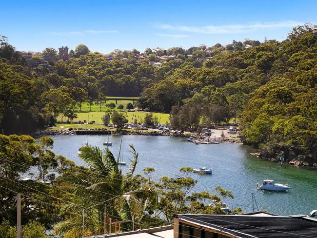 The home has views of Northbridge, Tunks Park and Middle Harbour.