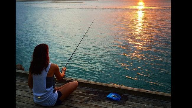 Special holiday ... Daniel MacPherson shares a snap of fiance Zoe while on holiday in Noosa over Christmas. Picture: Instagram