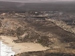 The Southern Ocean Lodge on Kangaroo Island destroyed by a bushfire. Picture: 7 News Adelaide.