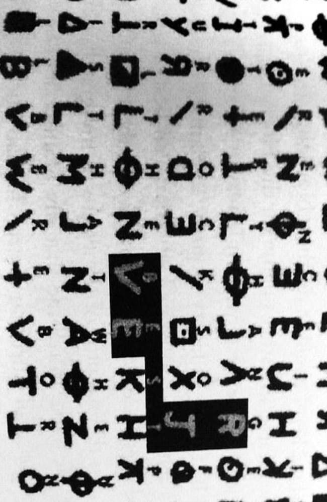 The Zodiac killer was known for sending cryptic messages about details of the murders he committed. Source: Supplied