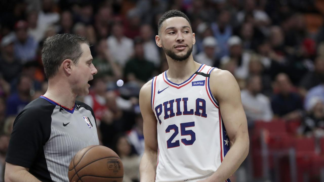 Simmons' 76ers fell to the Heat.